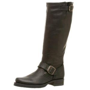 Frye Veronica slouch black leather boots